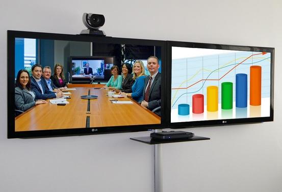 Videokonferenzsysteme Bildschirme