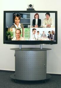 Medienwagen für Videokonferenz Systeme