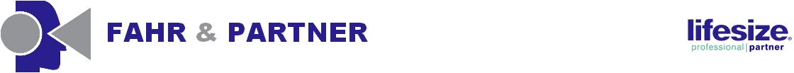 Fahr & Partner ITK Systemhaus für Videokommunikation